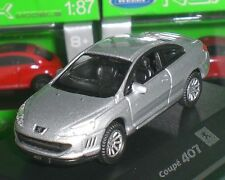 WELLY NEX MODELS MINIATURE PEUGEOT 407 COUPE FRANCE PC BOX ECHELLE 1:87 NEW OVP