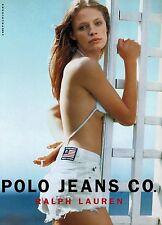 1998 POLO JEANS Co  RALPH LAUREN : TANGA MOREAU   Magazine  Print Ad