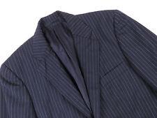P5207 AQUASCUTUM Blazer Original Premium Nadelstreifen Wolle Vintage Größe 36