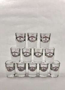 12x Jack Daniels Whiskey Fire Shot Glas Kurze Gläser NEU OVP Schnaps 2cl Jacky