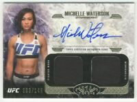2017 Topps UFC Knockout Autographed Tier One Dual Relics Michelle Waterson /149