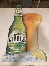 Miller Chill beer sign bottle Metal Milwaukee Wisconsin Brewery