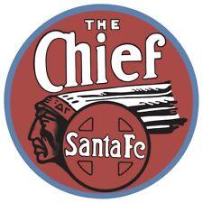 The Chief Santa Fe Embossed Tin Sign Gameroom Cabin Bar Garage 061