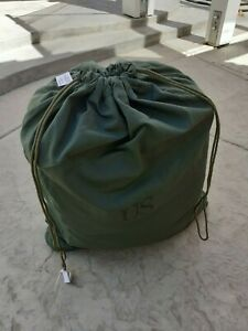 HEAVY DUTY cotton laundry bag US issue VERY GOOD CONDITION clean.