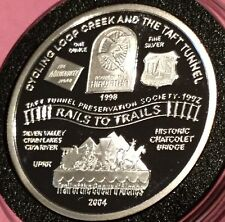 Rail To Trails Taft Tunnel Idaho Landmarks 1 Troy Oz .999 Fine Silver Proof Coin
