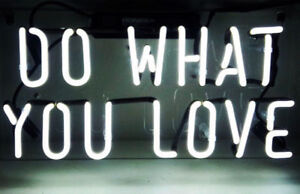 "New White Do What You Love Acrylic Lamp Neon Light Sign 14""x10"""