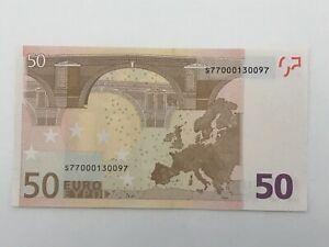 50 € M.DRAGHI ITALY ERROR MISSING HOLOGRAM 2002 UNC