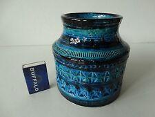 Bitossi 70`s 70er Vase Rimini blue Aldo Londi TOP