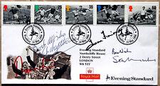 Stanley Matthews, Tom Finney, Nat Lofthouse & Dennis Law - Genuine Autographs