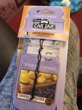 Yankee Candle Voiture Bocal Désodorisant Pack de 3 citron lavande