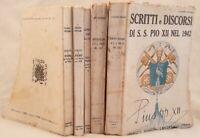 SCRITTI E DISCORSI DI S. S. PIO XII NEL 1942 1943 1948 1949 1950 CANTAGALLI