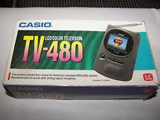 "Vintage Handheld Casio TV-480 2.2"" Color LCD TV Analog Model B"