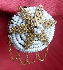 clip ancien vintage micro perles boucle d'oreille