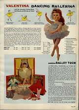 1957 PAPER AD Valentina Doreena Ballet Doll Queen For A Day Bonnie Tear Drop