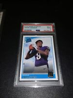 LAMAR JACKSON - 2018 PANINI DONRUSS - RATED ROOKIE - #317 - PSA 9 MINT