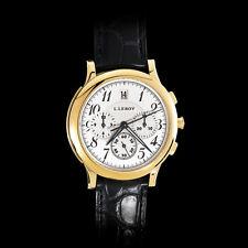 Watch L.Leroy Osmior 18K Gold Automatic Guilloche Chronograpf Winner of GPHG