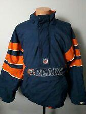 Vintage Starter Chicago Bears Pullover Jacket Mens Size L