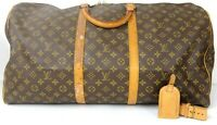 Auth LOUIS VUITTON Monogram Keepall 60 Travel Duffle Bag France M41422 w/ID Tag