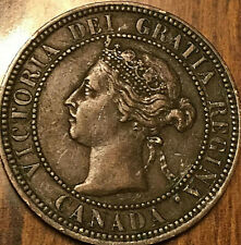 1901 CANADA LARGE CENT PENNY LARGE 1 CENT COIN - Excellent example!