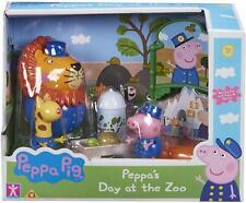 Peppa Pig de Día At The Zoo Set Zeo León Figuras Y Accesorios Playset Juguete
