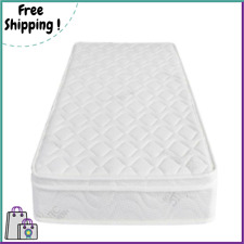 Coil Mattress Memory Foam Bed Twin Size 8 Inch for Bedroom Top Quality White New