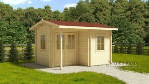 *Special price* Log cabin ALPINA 4 m x 3 m, 44 mm walls! Free delivery*