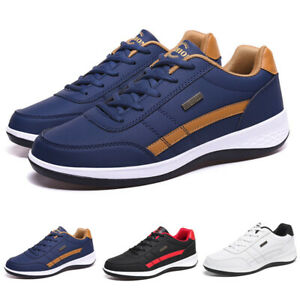 Mens Trainers Non-slip Sneakers Sports Casual Lace Up Running Shoes Big Size