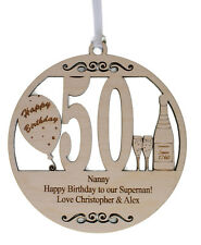 PERSONALISED 50TH BIRTHDAY PLAQUE - ENGRAVED WITH THE WORDING OF YOUR CHOICE