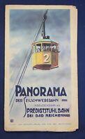 Prospekt Panorama Der Seilschwebebahn bei Bad Reichenhall um 1930 Geographie js