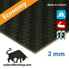 ECONOMY Real Carbon Fibre Sheet 200x75x2mm