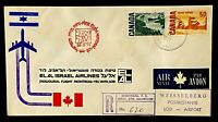 Canada Montreal Israel Tel Aviv Inaugural Flight Registered Air Mail 1971 03 29
