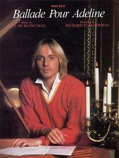 Ballade Pour Adeline Sheet Music Piano Solo Richard Clayderman NEW 000202054