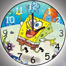 Wanduhr - Uhr für das Kinderzimmer - Motiv - Spongebob 2 - Kinderuhr