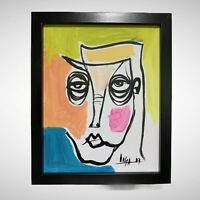 "PAINTING ORIGINAL ACRYLIC ON CANVAS (FRAME INCLUDED) CUBAN ART  8""X10"" By LISA."