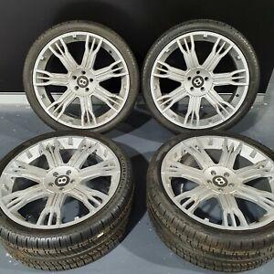 Bentley Continental Gt 22INCH ALLOY WHEELS REPLICA 4PIRELLI 295 30 ZR22 99% 2012