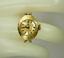 Vintage Ladies 18K Yellow Gold French BUCHERER Ring Watch Wind Up Swiss Movement