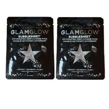 Glamglow Bubblesheet Mask 2 Sheets - Oxygenating Deep Cleanse Facial Mask