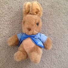 Vintage EDEN Peter Rabbit Plush Blue Coat With tie and buttonsSewn Mouth Easter