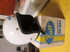 Vintage Blueline White Buco Motorcycle Helmet