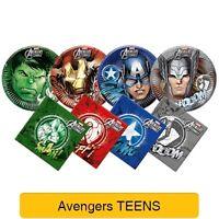 AVENGERS TEEN Birthday Party Range (Tableware & Decorations, Balloons) Marvel