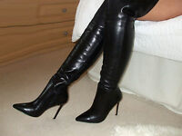 Soft Glossy Leather High Heel Overknee Thigh Boots 3 4 5 6 7 37 38 39 8 9 10