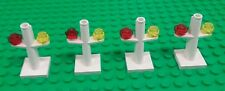 *NEW* Lego White 3 Prong Train Track Signals for Trains City Settings - 4 pieces