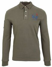 LA MARTINA POLO Sweatshirt Polo Shirt Größe L HEAVY HERSEY 100% Baumwolle Grün