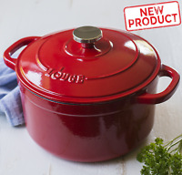 5.5 Quart Dutch Oven Enameled Cast Iron Kitchen Cooking Cookware Stovetop Red