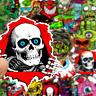 50 Horror Totenkopf cxs Stickerbomb Retrostickern Aufkleber Sticker Mix Decals