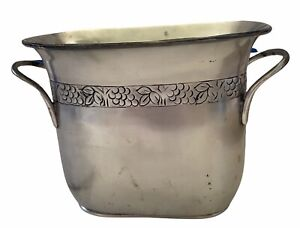 Pottery Barn Rustic Divided Grapevine Wine or Champagne Ice Bucket Cooler W/Tag