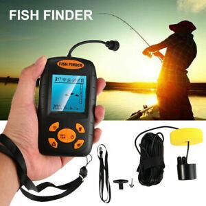 Handheld Fish Finder Sonar Sensor LCD Depth Portable Fishing Gear Transducer USA