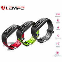 LEMFO Q8 Reloj Inteligente Bluetooth IP68 Impermeable Podómetro Para Xiaomi iOS