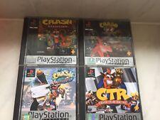 Crash Bandicoot PS1 Platinum Bundle Cortex Strikes Back Warped Team Racing CTR
