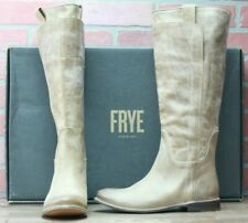 Frye Leather Paige Tall Riding Boots Tan New With Box 77534 Size 7 M